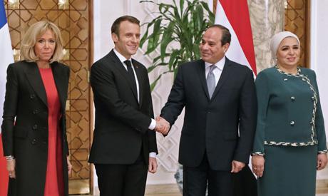 Macron,Sisi