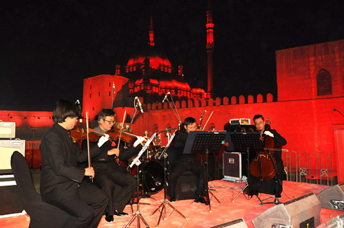 The Egyptian Academy Symphony Orchestra and China Zheng Jiang Orchestra in a joint performance    (P