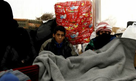 Syrian displaced kids