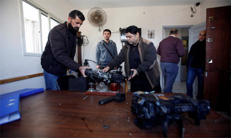Ahram Online - Palestine TV offices in Gaza ransacked