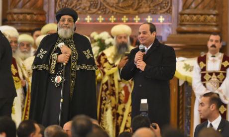 El-Sisi during Christmas