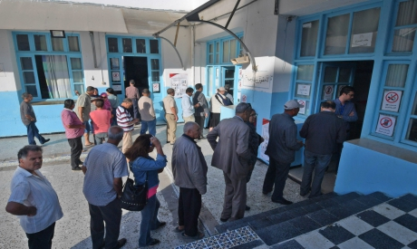 Tunisian voters during second round of presidential elections