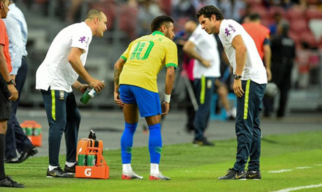 Neymar limped off injured against Nigeria on Sunday and will miss the next four weeks, his club Pari