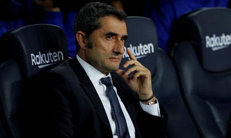 Barcelona coach Ernesto Valverde (Reuters)