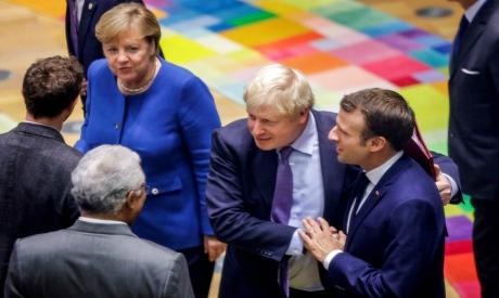 Boris Johnson with European Union leaders