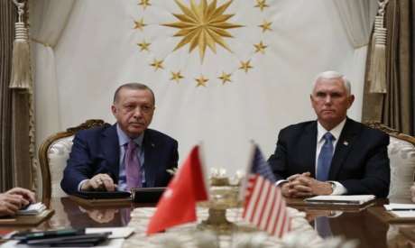Mike Pence meets with Recep Tayyip Erdogan