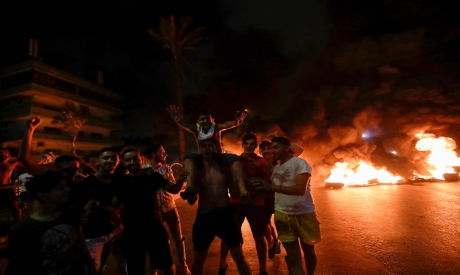 Lebanese demonstrators