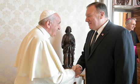 Pompeo, Pope Francis