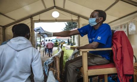 IOM aid worker in Uganda