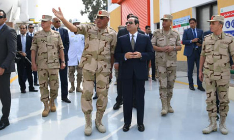 President Sisi arriving at the inauguration event