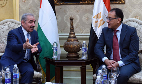 Prime Minister Mostafa Madbouly received Monday his Palestinian counterpart Mohammad Shtayyeh (Al-Ah