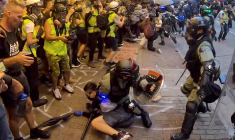 Hong Kong face-off