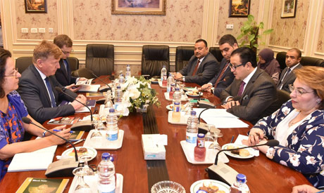 Egyptian MPs meet EU Amb to Cairo Surkos
