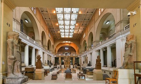 Inside the halls of the Egyptian museum	(AP)