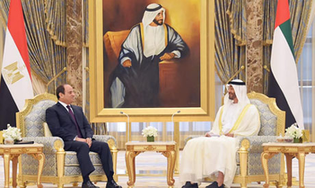 Abu Dhabi crown prince and President Abdel Fattah El-Sisi (Photo: https://www.facebook.com/Egy.Pres.