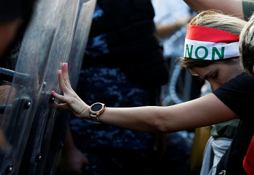 Lebanese women in protests