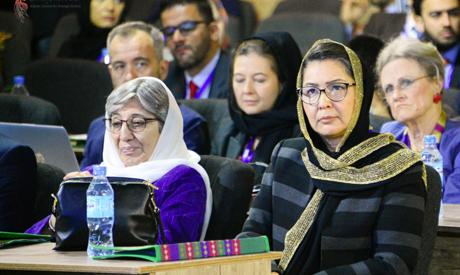 Afghani officials Sima Samar and Sraya Dalil