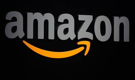 (FILES) In this file photo taken on September 28, 2011 the Amazon logo is seen on a podium during a