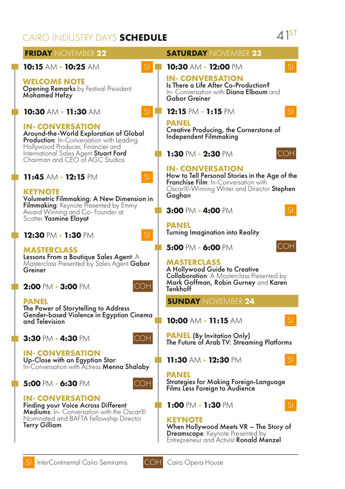 Cairo Industry Days Programme 2