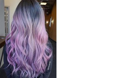 Purple washed grey: