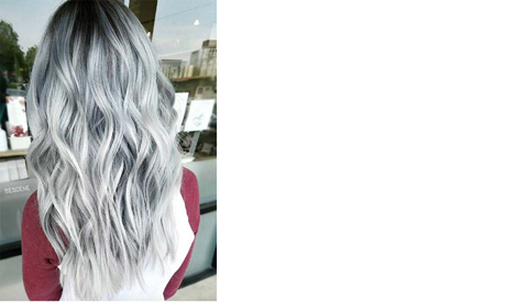 Black and grey contrasting ombre: