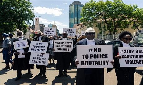 Demonstration in Zimbabwe