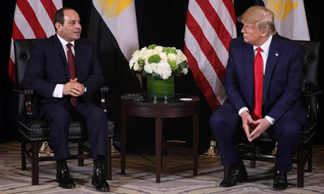 S. President Donald Trump meets with Egypt