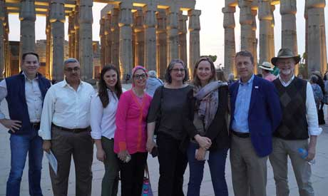 USAID delegation in Luxor during its tour in Upper Egypt (Photo: USAID)