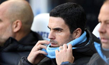 FILE PHOTO: Manchester City assistant coach Mikel Arteta before the match (Reuters)