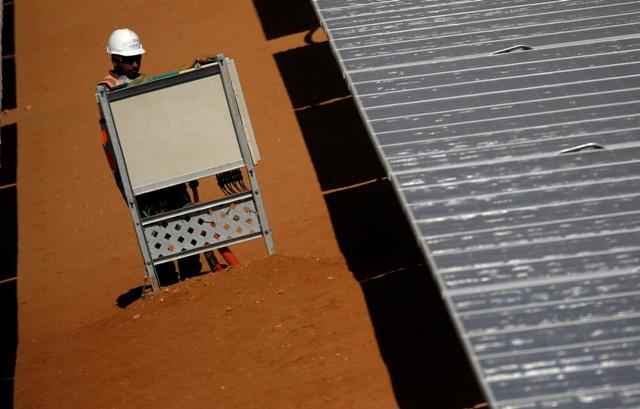 Benban plant of photovoltaic solar panels in Aswan