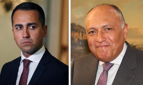 Italian foreign minister Luigi Di Maio and Egypt