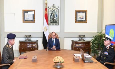 Sisi, Defence Minister Mohamed Zaki