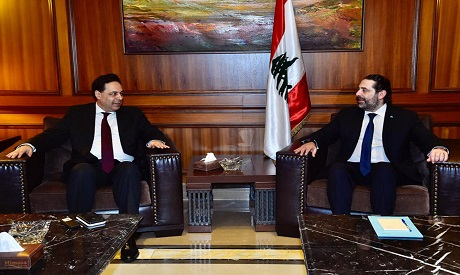 Newly-assigned Lebanese Prime Minister, Hassan Diab meets Hariri