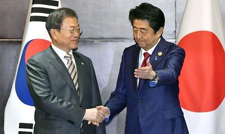 Moon Jae-in & Shinzo Abe