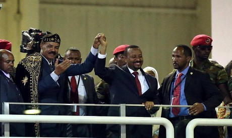 President Afwerki and Ethiopian PM Abiy Ahmed