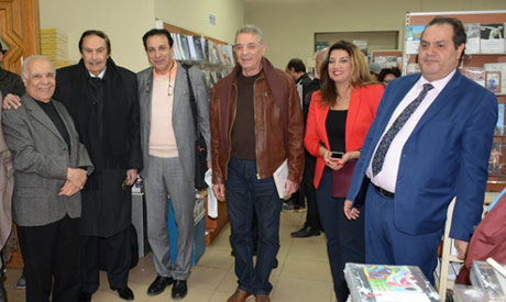 (L-r) Mohamed Makhlouf, Ezzat El-Alayli, Sherif Gad, Mahmoud Hemeida, Dina  Mandour and Anwar Moghei