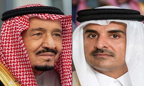Saudi King and Qatar Emir