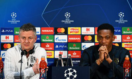 Ole Gunnar Solskjaer and Anthony Martial