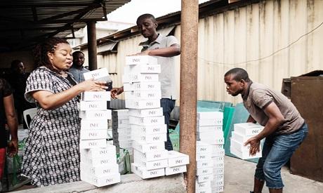 Nigerian electoral commission staff