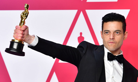 "Best Actor winner for ""Bohemian Rhapsody"" Rami Malek poses in the press room during the 91st Annual"