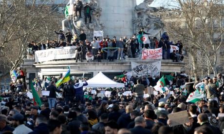 Demonstrators in Algeria