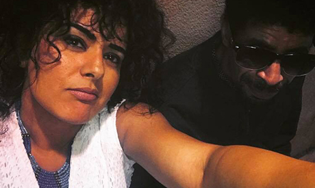 Dina El-Wedidi in a selfie with Wael El-Sayed