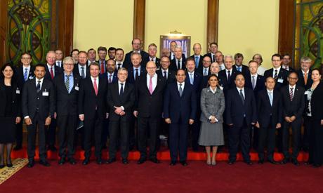 Sisi, German delegation