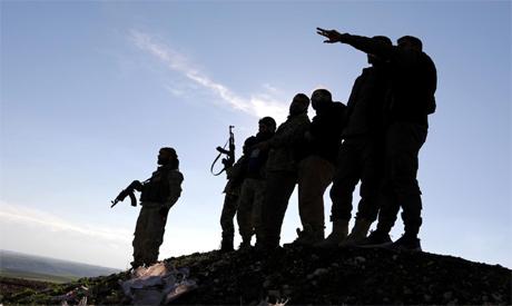 Syrian rebels in Minbiji