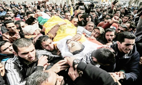 Palestinian mourners