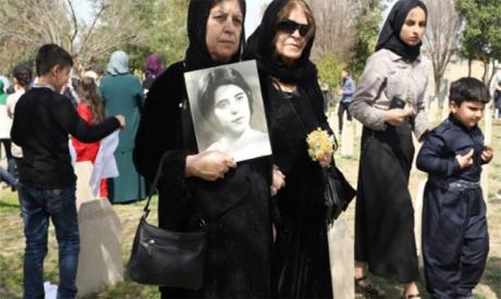 Kurds commemorating the anniversary of Halabja