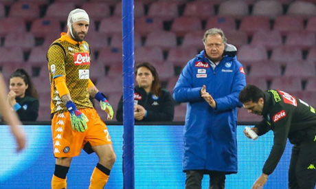 Napoli goalkeeper David Ospina cleared of serious damage