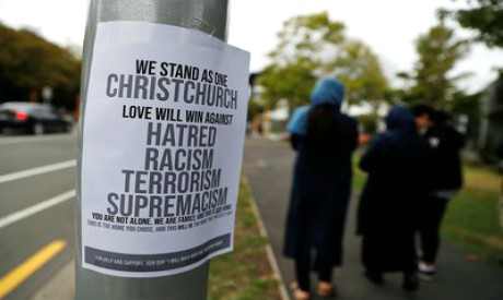 Sign near Masjid Al Noor in Christchurch