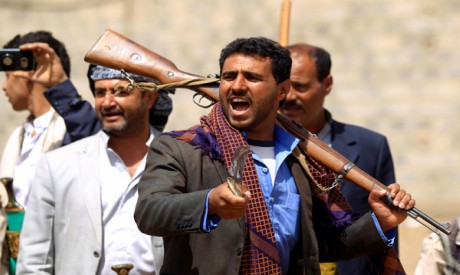 Tribal gunmen in Yemen