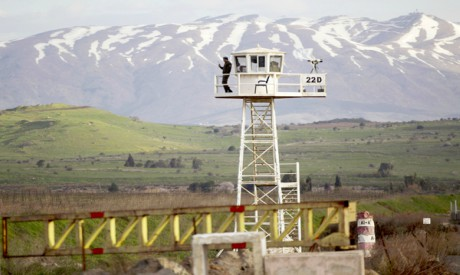 Quneitra Crossing between Syria and the Golan Heights